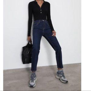 Zara Woman High Rise Slim Fit Crop Jean Sz 12